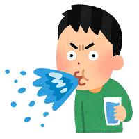 水ふく男性