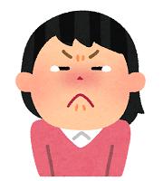 涙をこらえる女の子
