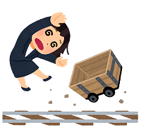 torokko_trolley_rail_businesswoman_out