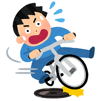 jiko_manhole_jitensya