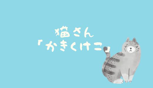 【動画】猫さん「かきくけこ」で、気分転換はいかがですか?